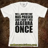 Is algebra never used in real life