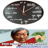 Strict asian dad loves this math clock