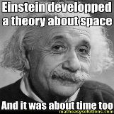 Albert Einstein always making theories