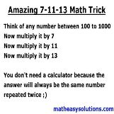 Magic math trick