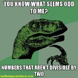 Odd numbers arent divisible by 2