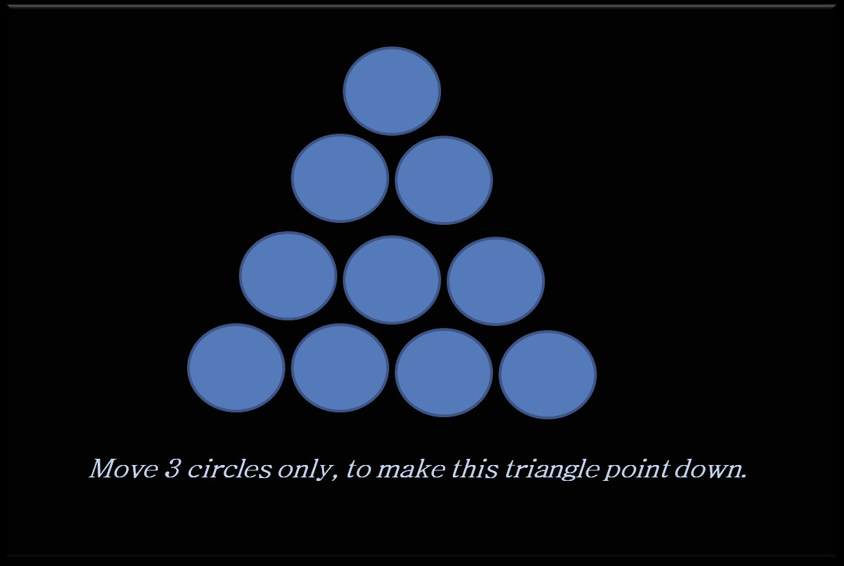 Can you make this triangle point down?