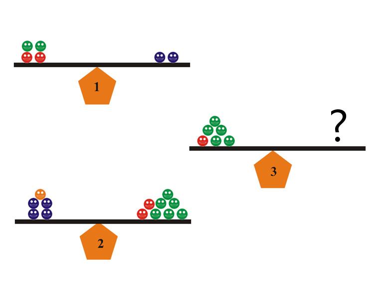 Color Balance Math Puzzle