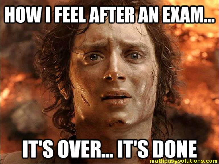 Frodo after exams