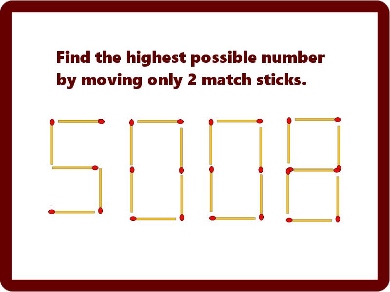 Match Stick Riddle