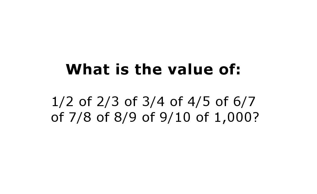 Math Fractions Puzzle