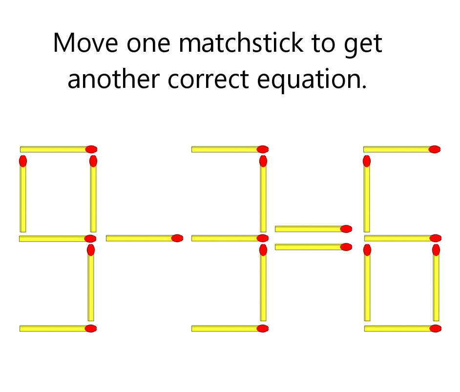 Match Stick Equation Puzzle