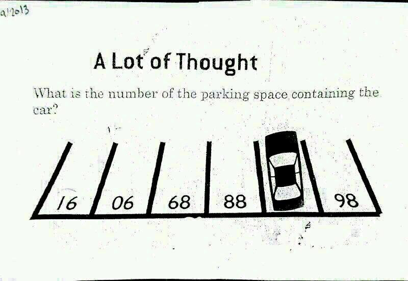 Parking Lot Number Puzzle
